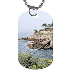 Tenerife,painted Version Dog Tag (two Sides) by MoreColorsinLife
