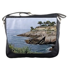 Tenerife,painted Version Messenger Bags by MoreColorsinLife