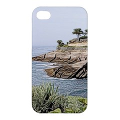 Tenerife,painted Version Apple Iphone 4/4s Premium Hardshell Case by MoreColorsinLife