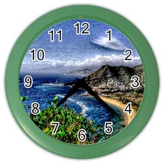 Tenerife 12 Effect Color Wall Clocks by MoreColorsinLife