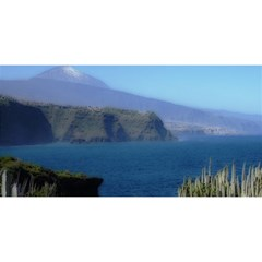 Panted Landscape Tenerife You Are Invited 3d Greeting Card (8x4)