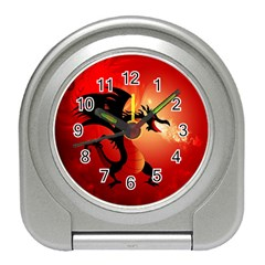 Funny, Cute Dragon With Fire Travel Alarm Clocks by FantasyWorld7