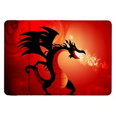 Funny, Cute Dragon With Fire Samsung Galaxy Tab 8.9  P7300 Flip Case by FantasyWorld7