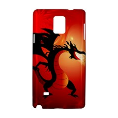 Funny, Cute Dragon With Fire Samsung Galaxy Note 4 Hardshell Case by FantasyWorld7