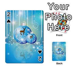 Wonderful Christmas Ball With Reindeer And Snowflakes Playing Cards 54 Designs  by FantasyWorld7
