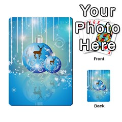 Wonderful Christmas Ball With Reindeer And Snowflakes Multi Purpose Cards (rectangle)