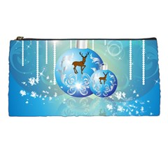 Wonderful Christmas Ball With Reindeer And Snowflakes Pencil Cases by FantasyWorld7