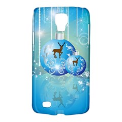 Wonderful Christmas Ball With Reindeer And Snowflakes Galaxy S4 Active by FantasyWorld7