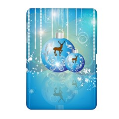 Wonderful Christmas Ball With Reindeer And Snowflakes Samsung Galaxy Tab 2 (10 1 ) P5100 Hardshell Case  by FantasyWorld7