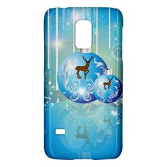 Wonderful Christmas Ball With Reindeer And Snowflakes Galaxy S5 Mini by FantasyWorld7
