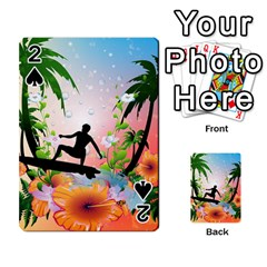 Tropical Design With Surfboarder Playing Cards 54 Designs