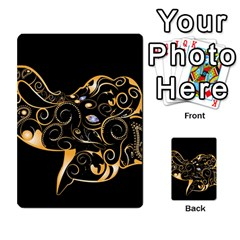 Beautiful Elephant Made Of Golden Floral Elements Multi Purpose Cards (rectangle)