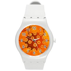 Cancer Zodiac Sign Round Plastic Sport Watch (m) by julienicholls