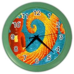 Capricorn Zodiac Sign Color Wall Clocks by julienicholls