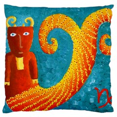 Capricorn Zodiac Sign Large Flano Cushion Cases (two Sides)  by julienicholls