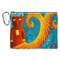 Capricorn Zodiac Sign Canvas Cosmetic Bag (xxl)  by julienicholls