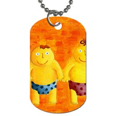 Gemini Zodiac Sign Dog Tag (two Sides) by julienicholls