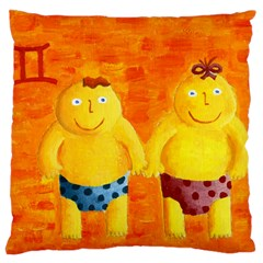 Gemini Zodiac Sign Large Cushion Cases (two Sides)  by julienicholls