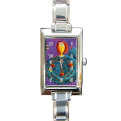 Libra Zodiac Sign Rectangle Italian Charm Watches by julienicholls