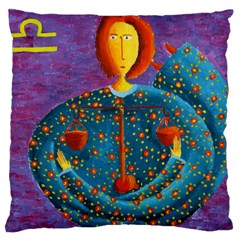 Libra Zodiac Sign Large Cushion Cases (two Sides)  by julienicholls