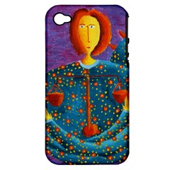 Libra Zodiac Sign Apple Iphone 4/4s Hardshell Case (pc+silicone) by julienicholls