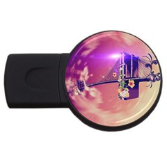 Vintage Usb Flash Drive Round (4 Gb)  by FantasyWorld7