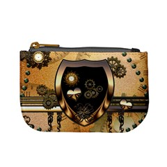 Steampunk, Shield With Hearts Mini Coin Purses by FantasyWorld7