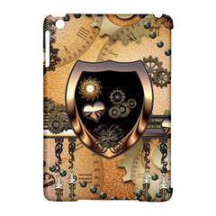Steampunk, Shield With Hearts Apple Ipad Mini Hardshell Case (compatible With Smart Cover) by FantasyWorld7