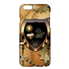 Steampunk, Shield With Hearts Apple iPhone 6 Plus/6S Plus Hardshell Case by FantasyWorld7