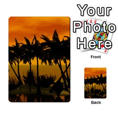 Sunset Over The Beach Multi Purpose Cards (rectangle)