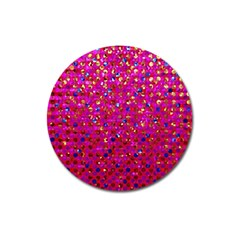 Polka Dot Sparkley Jewels 1 Magnet 3  (round) by MedusArt