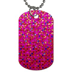Polka Dot Sparkley Jewels 1 Dog Tag (two Sides) by MedusArt