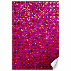 Polka Dot Sparkley Jewels 1 Canvas 12  X 18   by MedusArt