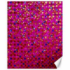 Polka Dot Sparkley Jewels 1 Canvas 16  X 20   by MedusArt