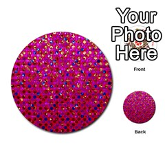 Polka Dot Sparkley Jewels 1 Multi Purpose Cards (round)  by MedusArt