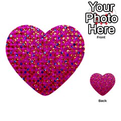 Polka Dot Sparkley Jewels 1 Multi Purpose Cards (heart)