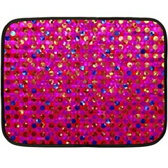 Polka Dot Sparkley Jewels 1 Fleece Blanket (mini) by MedusArt