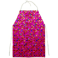 Polka Dot Sparkley Jewels 1 Full Print Aprons by MedusArt