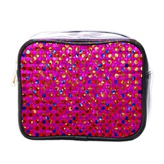 Polka Dot Sparkley Jewels 1 Mini Toiletries Bags by MedusArt