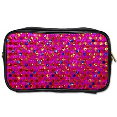 Polka Dot Sparkley Jewels 1 Toiletries Bags 2 Side by MedusArt