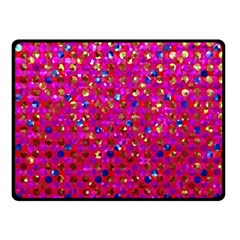 Polka Dot Sparkley Jewels 1 Fleece Blanket (small) by MedusArt