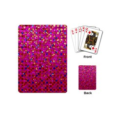 Polka Dot Sparkley Jewels 1 Playing Cards (mini)  by MedusArt