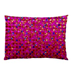 Polka Dot Sparkley Jewels 1 Pillow Cases (two Sides) by MedusArt