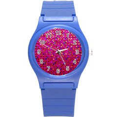 Polka Dot Sparkley Jewels 1 Round Plastic Sport Watch (s) by MedusArt