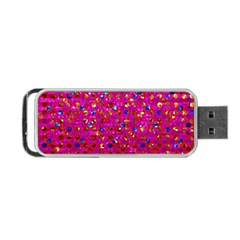 Polka Dot Sparkley Jewels 1 Portable Usb Flash (two Sides) by MedusArt