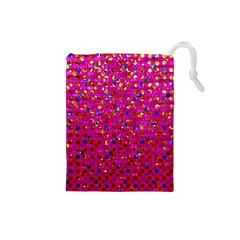 Polka Dot Sparkley Jewels 1 Drawstring Pouches (small)  by MedusArt