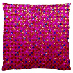Polka Dot Sparkley Jewels 1 Standard Flano Cushion Cases (two Sides)  by MedusArt