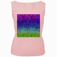 Grunge Art Abstract G57 Women s Pink Tank Top by MedusArt