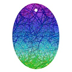 Grunge Art Abstract G57 Oval Ornament (two Sides) by MedusArt