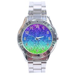 Grunge Art Abstract G57 Stainless Steel Men s Watch by MedusArt